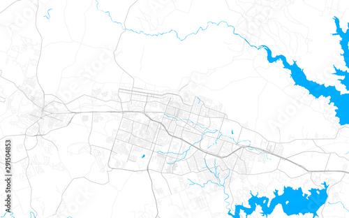 Pinturas sobre lienzo  Rich detailed vector map of Killeen, Texas, USA
