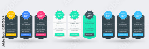 Fotografía Pricing table design template for websites and applications