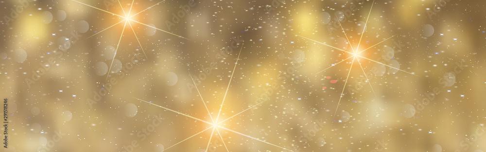 Fototapeta Christmas Gold Background