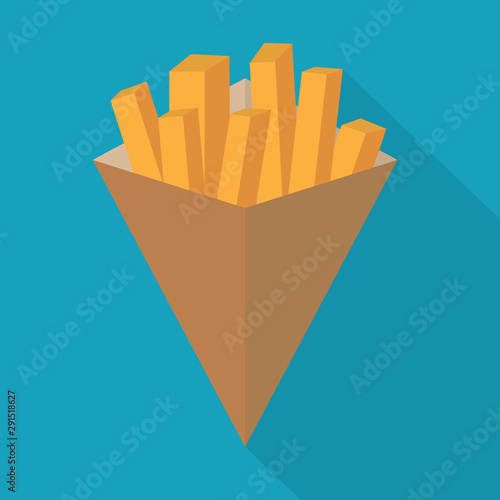 Fotografía belgian fries or french fries icon- vector illustration
