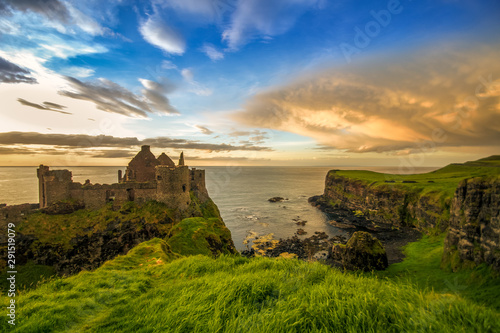 Dunluce Castle Antrim Coast Irish landmark Northern Ireland summer Wallpaper Mural
