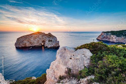 Photo Foradada Island in Sardinia, Italy.