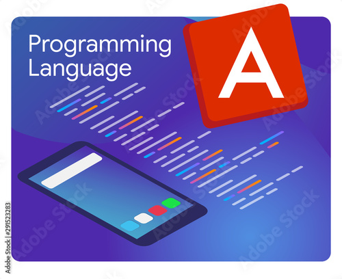 Photo Angular JS the popular javascript framework programming language coding software