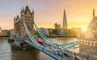 canvas print picture - The london Tower bridge at sunrise