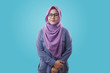 canvas print picture - Smiling Muslim Woman