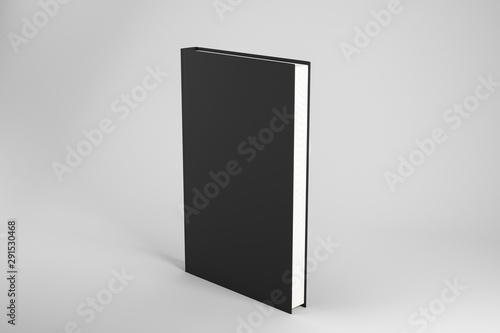 Creative closed black book Billede på lærred