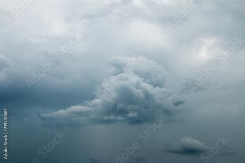 Fototapeta  Background of Dark ominous grey storm clouds. Dramatic sky
