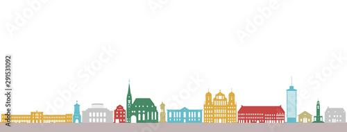 Augsburg, farbenfroh Wallpaper Mural