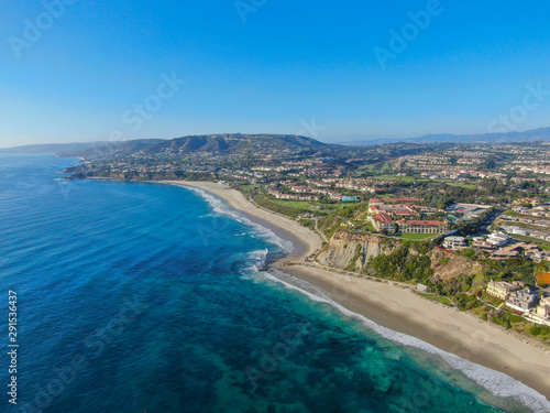 Aerial view of Monarch beach coastline