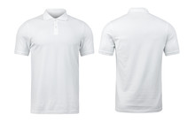 White Polo Shirts Mockup Front...
