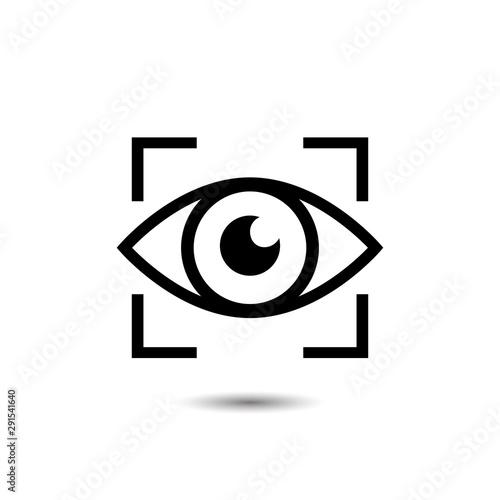 Eye icon sign. Vector illustration Wall mural