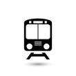 Train icon symbol vector on white