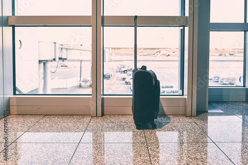 Fotografie, Obraz  Suitcase on the floor of the airport