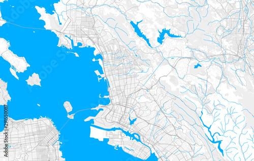 Cuadros en Lienzo Rich detailed vector map of Berkeley, California, USA