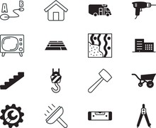 Home Vector Icon Set Such As: ...