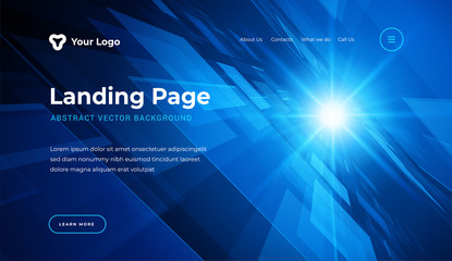 Abstract background dynamic geometric shapes website landing page or banner template modern style vector illustration.