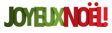 Typographie Vecteur Rouge Et Vert JOYEUX NOEL