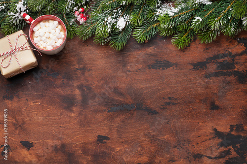 Poster Pays d Asie Christmas gift box and hot chocolate