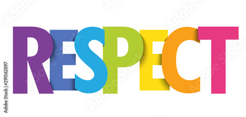 Stampa su Tela RESPECT colorful vector typography banner