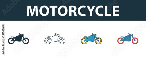 Motorcycle icon set Fototapet