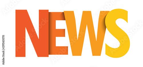 Carta da parati  NEWS colorful orange gradient typography banner