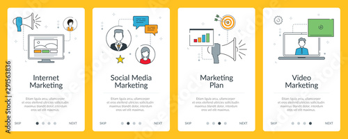 Social media marketing and communication internet banner.