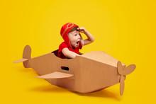 Astonished Little Pilot Lookin...
