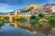 Toledo, Spain on the Tagus River at night