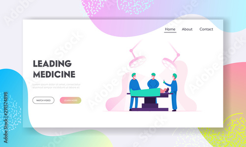 Emergency Medical Treatment Website Landing Page Canvas Print