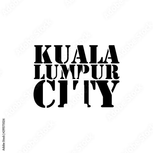 Photo Kuala lumpur city negative space typography logo design image