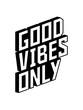 canvas print picture - good vibes only effeckt spaß 3d logo gute laune freude mutig positive einstellung munter glücklich party schön liebe stimmung happy text design cool