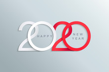 Happy 2020 New Year Elegant Re...