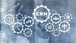 Leinwandbild Motiv Business Customer CRM Management Analysis Service Concept. Relationship Management.