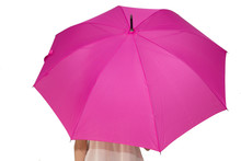 Woman With Umbrella Isolated O...