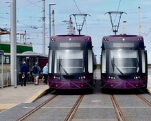 Modern Trams At Blackpool