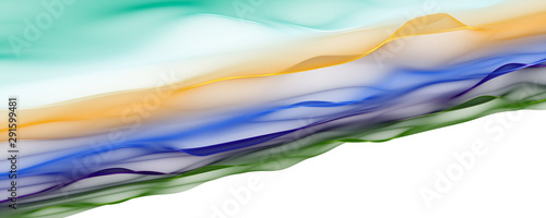 Cadres-photo bureau Abstract wave Abstract elegant wave panorama design with space for your text