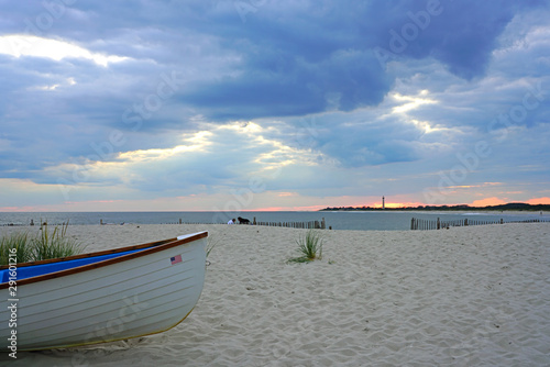 Watching the sunset sky on the beach in Cape May, New Jersey, USA Fototapeta