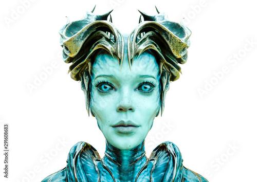 alien queen id portrait Tablou Canvas