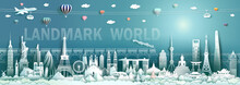 Travel Landmarks World With Mo...