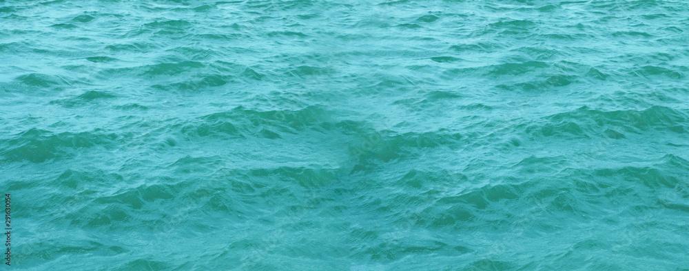 Fototapeta Blue sea waves look natural.