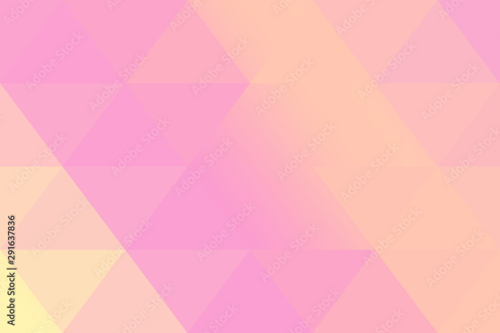 Fototapeta Pink and orange soft pastel color gradient abstract geometric triangular polygon style. Graphic background. abstract polygon background.