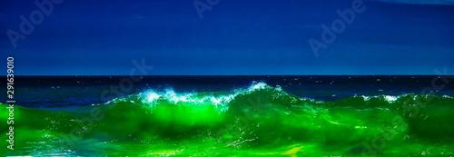 Foto auf AluDibond Grun Emerald Lava
