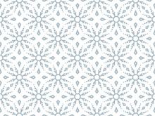 Abstract Geometric Pattern With Snowflakes. A Seamless Vector Background. White And Blue Texture. Graphic Modern Pattern.