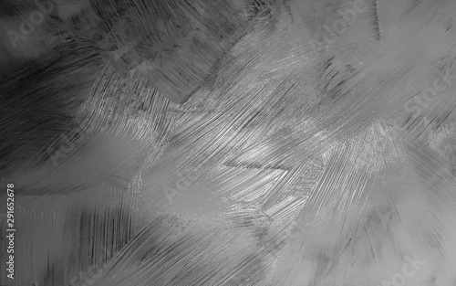 black and white paint background with thick brush strokes texture in oil painted Canvas Print