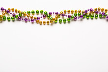 Colorful Beads On White Backgr...
