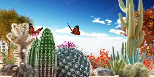 Poster Vegetal cactuses