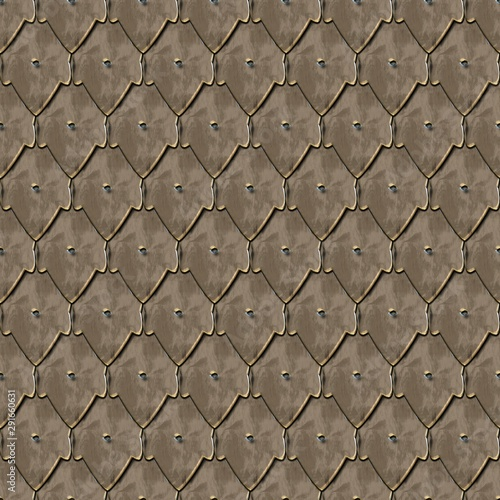 Photo  3D rendering of Middle Ages armor pattern tile