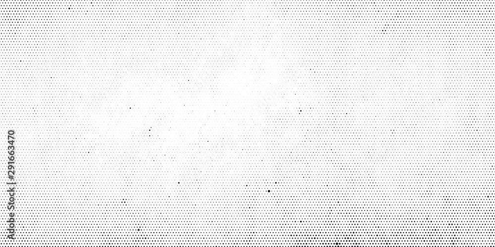 Fototapeta Abstract halftone dotted background. Grunge effect vector texture