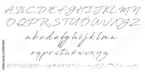 Fotografia, Obraz  Calligraphic Vintage Handwritten vector Font for Lettering