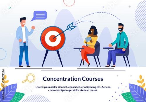 Informative Flyer Written Concentration Courses. Canvas Print